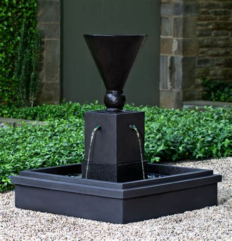 modern water fountain manhattan cast stone garden fountain from cania