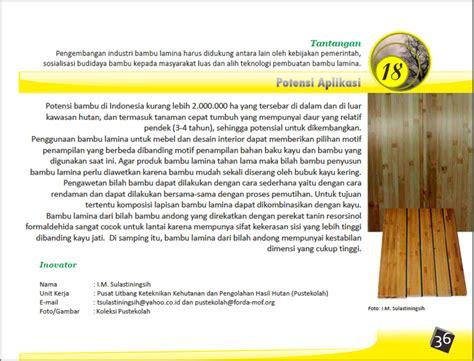 Mesin Laminasi Bambu artikel bambu laminasi bambu indonesia