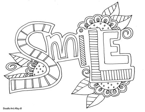 inspirational words coloring page coloring pages