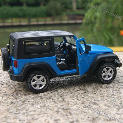 light blue jeep wrangler jeep wrangler 2014 1 32 alloy diecast car model sound