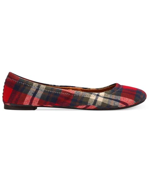 Plaid Flats lucky brand emmie flats in multicolor ochre plaid lyst