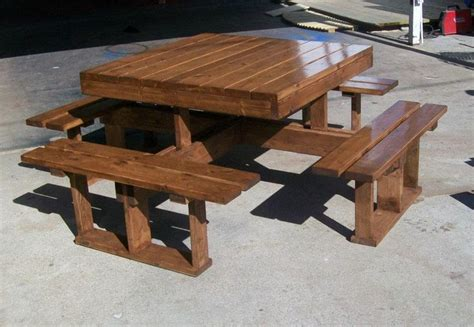 attached square picnic table retirement projects and