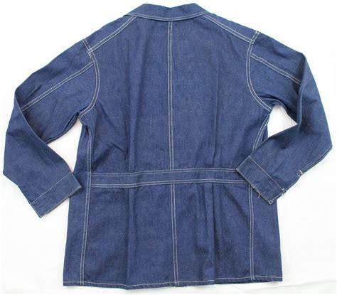 vintage workwear  belt  selvedge denim jacket