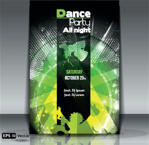 dance party flyer template free vector download 15 235