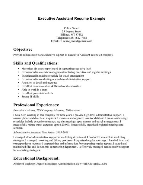 executive assistant sle resume sales admin assistant resume administrative cover letter