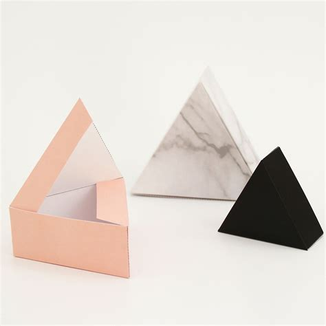 Triangle Box Triangle Set Of 3 Giftboxes Color Marble Bank Account