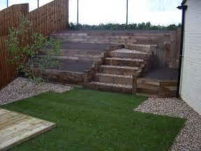 timber retaining wall railway sleepers