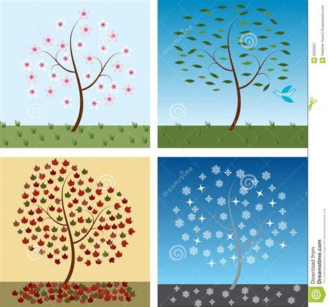 Seasonal Timing by Seasonal Trees Stock Image Image 5945621