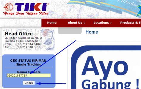 cek resi index cargo cara cek resi tiki online pantau keberadaan paket anda