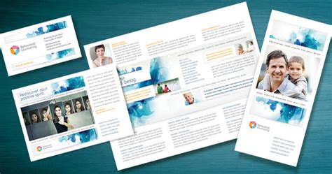 templates brochure mental health market a behavioral counselor with positive messaging