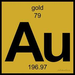 Periodic Table Gold by Au Gold Periodic Table Of Elements Digital By Joel