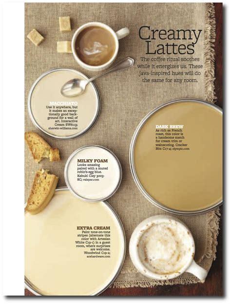 creamy lattes paint palette interiors  color