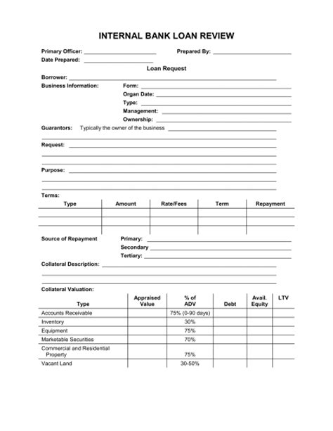 bank loan application form and checklist template