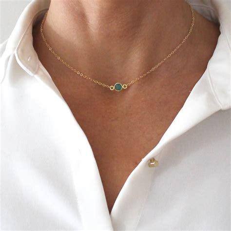 Choker Penta Gold Rings Choker green onyx gemstone gold choker necklace by a box for my treasure notonthehighstreet