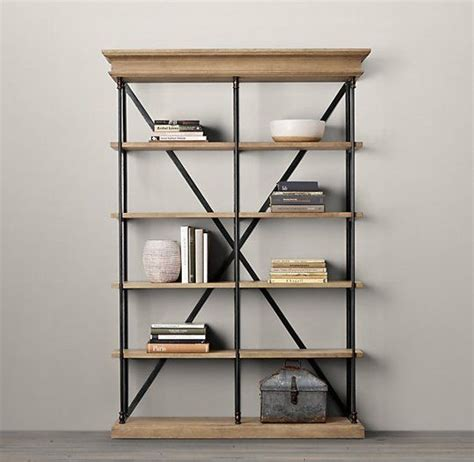 s product research industrial style bookcase for