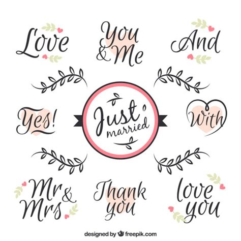 Wedding Phrases by Phrases For Wedding Day Vector Free