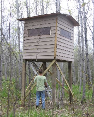 Hunt Box Floor Plans by From The Shop Elevated Box Blind Blazing My Own Trails