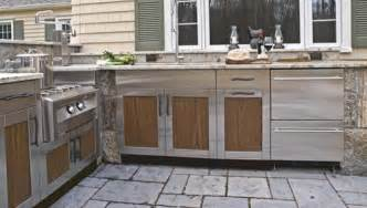 Stainless Outdoor Kitchen Cabinets durable cabinets that can be finished to look like wood from danver