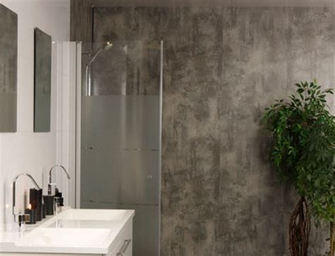 cladding wet wall in textured effect fresco bathrooms