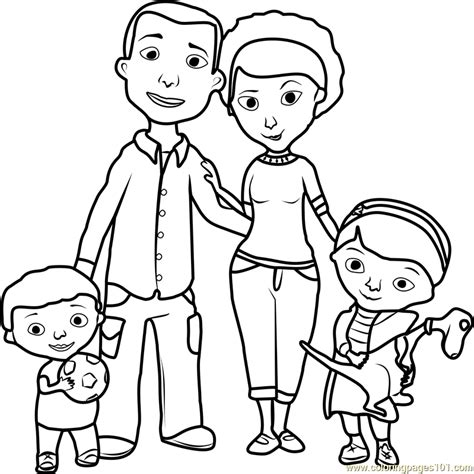 coloring page about family doc mcstuffins family coloring page free doc mcstuffins