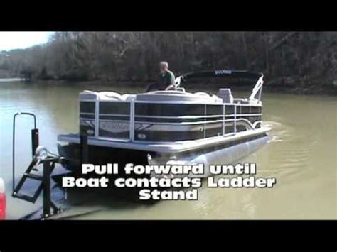loading pontoon boat on trailer how to load a pontoon boat onto a trailer in less than