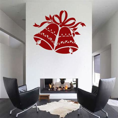 trendy wall design christmas bells wall decal trendy wall designs