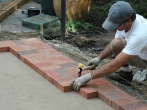 how to install brick patio how to lay a brick paver patio how tos diy