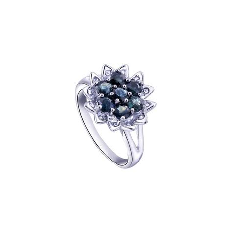 Inexpensive Engagement Rings by 2 Carats Flower Sapphire Inexpensive Engagement Ring For
