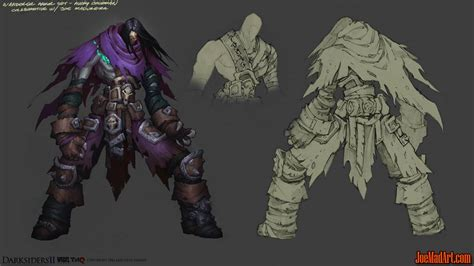 joemadart com darksidersii death wanderer armor concept art