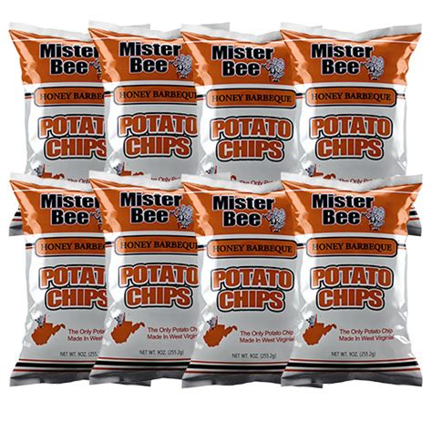 Mister Potato Crisps Barbeque 100g mister bee 8 honey barbecue potato chips 9 oz