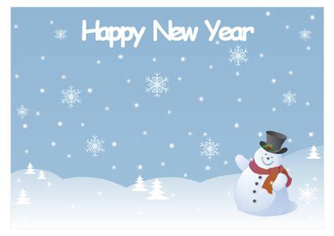 Card Snowman Template by New Year Card Snowman New Year Card Snowman Template