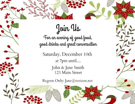 make your own holiday invitations free printables