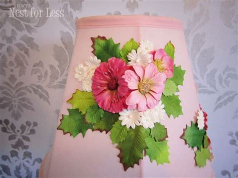 Anthropologie L Shade by Anthropologie Knock Embellished L Shade Flower L Pink Flowers And Paint