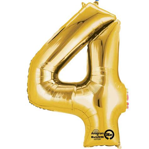 Small Balloon Foil Balon Foil Bintang gold number 4 mini foil balloon 16 quot air free delivery