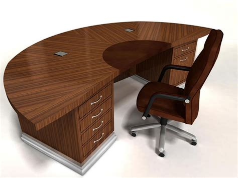 semi circle desk with cut out home design ideas