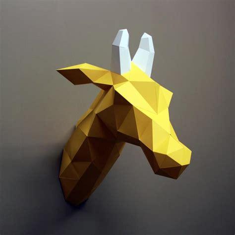 Papercraft Giraffe - louise the giraffe diy paper sculpture kit resident