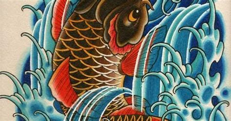 koi tattoo swimming up koi swimming up waterfall tattoo of a koi fish swimming
