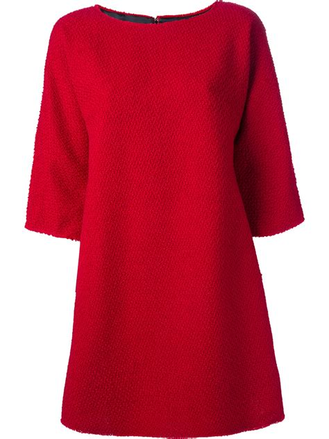 dior boat neck dress dolce gabbana dolce gabbana boat neck dress in red lyst