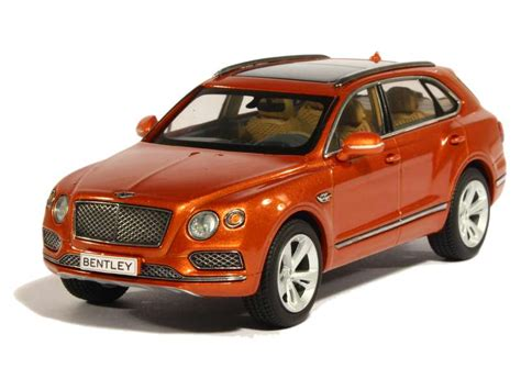 orange bentley bentayga bentley bentayga 2015 kyosho 1 43 autos miniatures