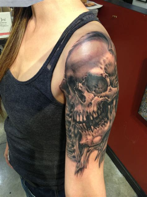 dead tattoos dead skull on arm cool tattoos