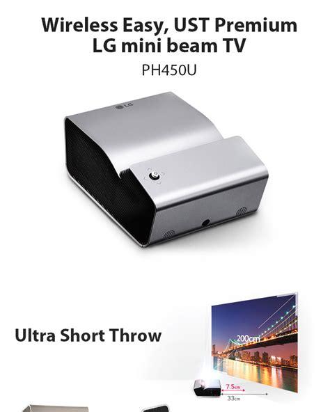 Proyektor Mini Lg Pb60g new lg mini beam tv ph450u projector ust 1280 720 450 ansi bluetooth miracast ebay
