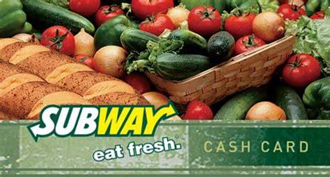 Subway Gift Card Online - gift cards dipasqua subway