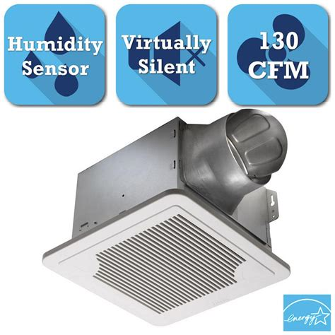 humidity controlled exhaust fan delta breez smart series 130 cfm ceiling exhaust bath fan