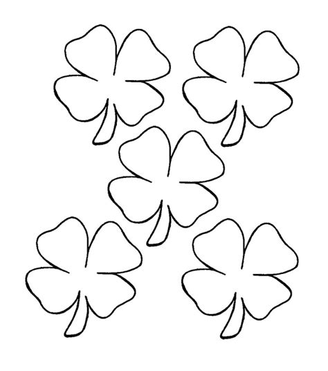 coloring page of small leaves four leaf clover coloring pages az coloring pages