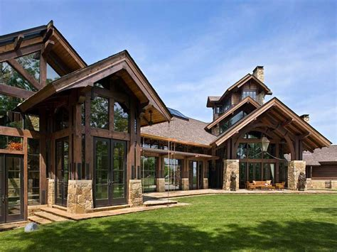 A Frame Log Home Plans by Timber House Plans With Basement Timber Frame Home Plans