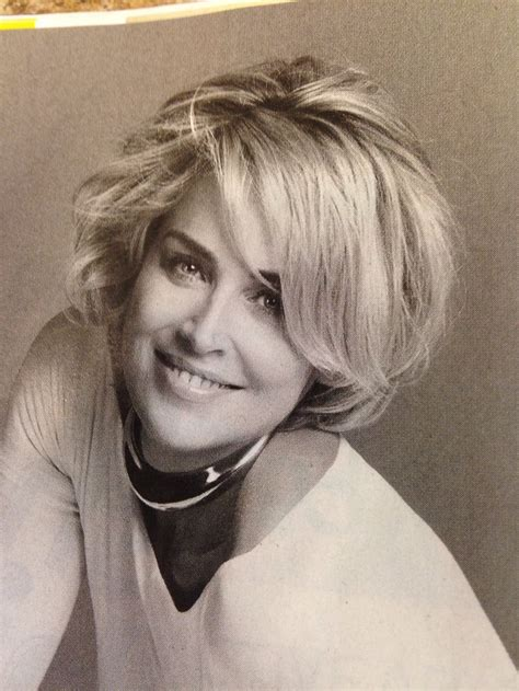sharon stone hairband love sharon stones hair hairstyles pinterest