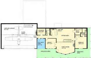 Airplane Floor Plan Custom Northwest Home With Airplane Hanger 35475gh 1st