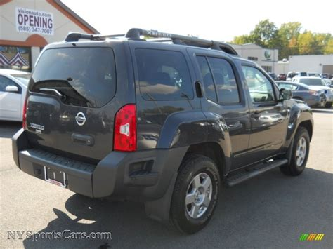 grey nissan xterra 2008 nissan xterra s 4x4 in night armor dark gray photo 2