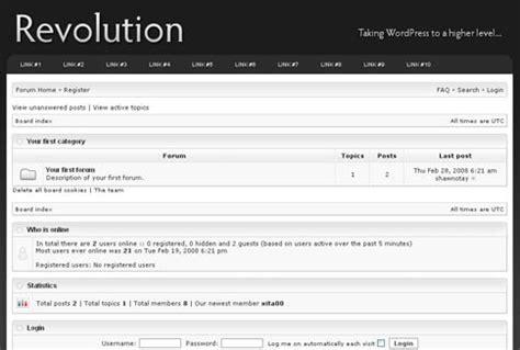 revolution theme forum templates