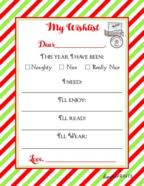 christmas wishlist printable letter housemoms